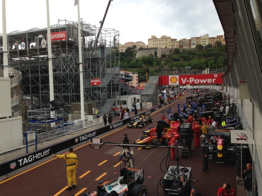 Congested pit lane