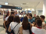 Upon arrival at Hungary's Ferenc Liszt Airport, Felipe Nasr was quickly engulfed by F1 fans, all keen to hear the latest on his new Sauber contract