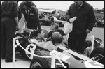 Bell Magnum off, Jim fills in more details. Around the back of the car, Leo Wybrott has a laugh